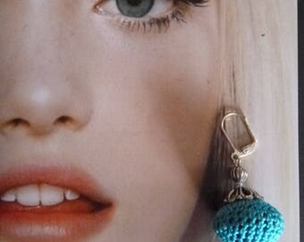 BOPB 04 turquoise braid earrings