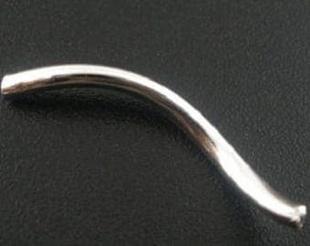 10 26x2mm curved tube beads