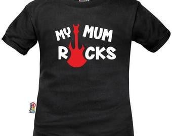 Kids t-shirt ROCK: my MUM rocks
