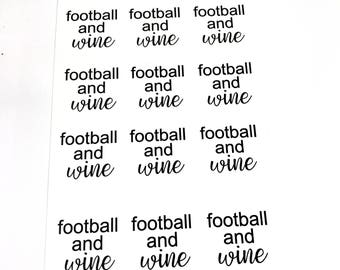 Football and Wine Planner Stickers