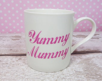 Yummy Mummy Pink Pregnancy Announcement New Baby New Mum Mother To Be Coffee Tea Baby Shower Mothers Day Birthday Gift For Her Baby Boy Girl