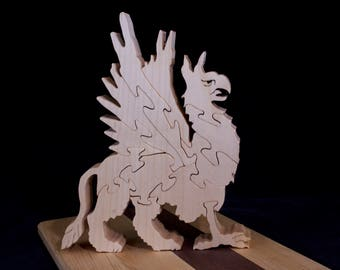 Wooden Free-Standing Griffin Puzzle