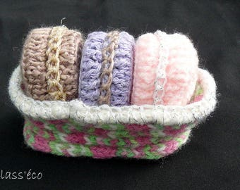 set of 3 ornaments in their basket