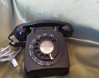 GPO BT 706L Black Rotary Telephone c. 1959 - 1967