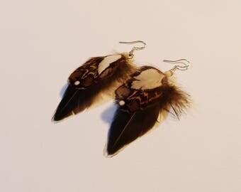 Earrings ear few feathers!
