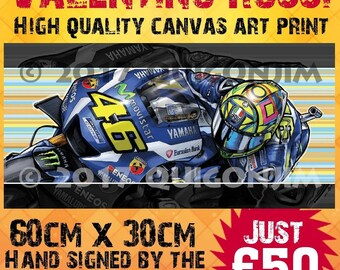 Valentino Rossi Yamaha M1 Canvas Print