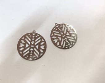 10 prints fine rhodium plated 25mm for jewelry designs