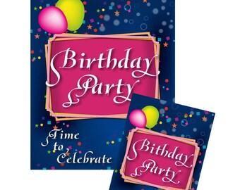 Birthday Party Invitation • Birthday Party Poster