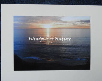 Ocean Sunrise Blank Note Card