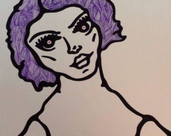 Purple hair girl