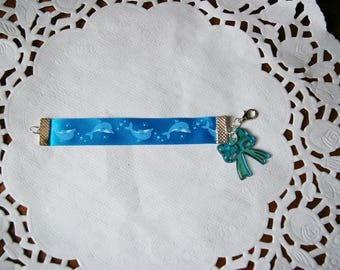 bracelet for kids Dolphin Blue Ribbon