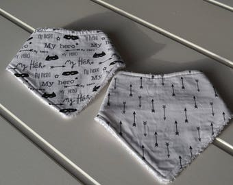set of 2 for boy bandana bibs