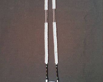 Handmade Rosette Necklace W/ Petrified wood