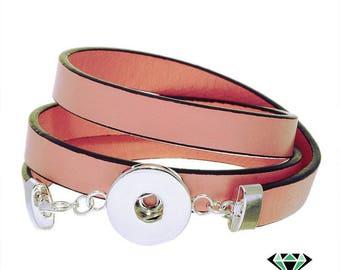 x 1 support 3 bracelet turns pink snap