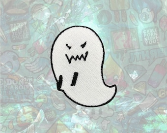 Ghost Patch Cute patch back patch hat patch bag patch Halloween sew on patch Iron on Patch Cosplay