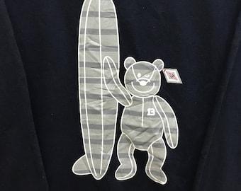 Rare!!! Bear Surf Board Sweatshirt Pullover Big Logo