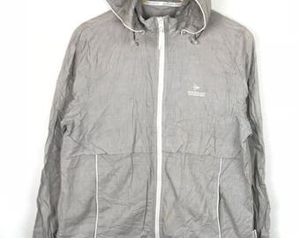 Rare!!! Dunlop Motorsport Light Jacket / Windbreaker / Hoodie Spellout Small Logo Double Pockets Full Zipper