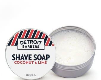 6 oz. Shave Soap - Coconut & Lime