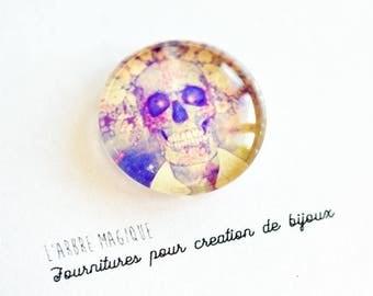 """""""Fancy 25 mm skull cabochon * craftsmanship"""" ref 564"""