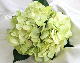 Silk Hydrangea 4 Round Wedding Bouquets Plus 6 Boutonnieres 2 Corsage 12 Item Package