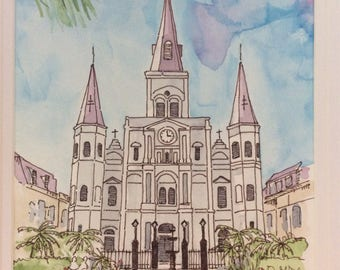 Saint Louis Cathedral at Jackson Square New Orleans.