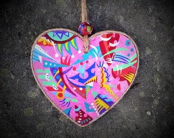 Saint Valentin, cadeau, Décoration,Saint Valentin , coeur, décoration de porte,  décoration de meuble, décoration murale, à suspendre.