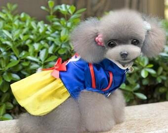 Dog Dress - Snow White Pet Clothing
