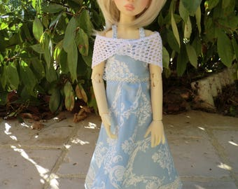 For MSD Bjd backless dress