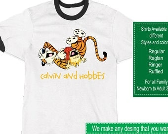 Calvin and Hobbes Shirt/Calvin and Hobbes Stickers/Calvin and Hobbes Invitations/Calvin and Hobbes Party Supplies/Calvin and Hobbes