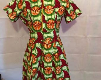 Ankara African Print dress.