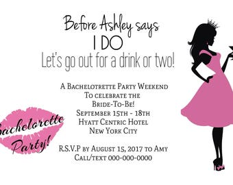 Bachelorette Party Invite - sold on sets of 5