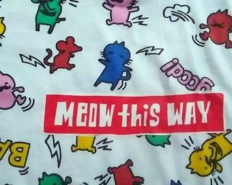 VTG Meow This Way T shirt size Medium