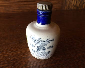 BALLANTINES Scotland Pottery Scotch Miniature Jug Minnesota Tax Stamp