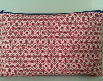 Cotton lined personalized toiletry bag