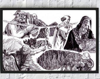 Seven Deadly Sins A3 Poster