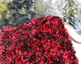 Hand Crocheted Fiery Red Hot Throw