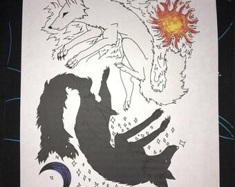 Yin Yang wolves