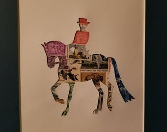 Postage Stamp Collage - Dressage Horse