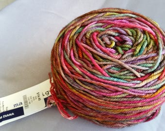 MALABRIGO RIOS, merino superwash yarn, color 886 Diana, made in Peru, super soft, fabulous color, worsted weight yarn