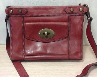 Authentic vintage Fossil cross body bag