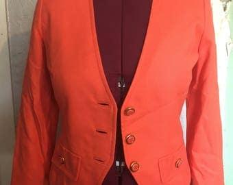 Vintage Linen Blazer - Coral