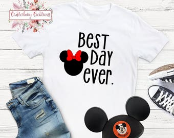Best Day Ever Minnie Head Shirt | Disney tank top Matching Disney Family vacation Disney family Disney Shirt Minnie Minnie Mouse Shirt