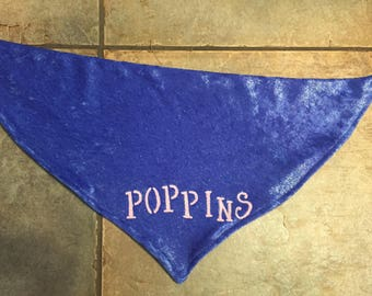 Custom Dog Bandana-Blue Sparkles