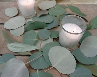 DRIED Table Scatter, Eucalyptus Table, Toss Petals, Table Runner, DRIED Eucalyptus, Silver Dollar Eucalyptus, Wedding Petal, Flower Petal