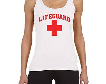 Lifeguard Women's White Tank Top