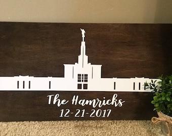 Denver Colorado Temple, Denver Colorado LDS Temple, LDS Temple Sign, Denver Colorado, LDS Decor, Wedding Gift, Custom Wood Signs