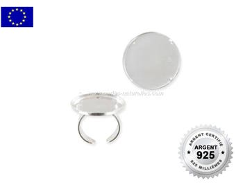 925 Silver - 25mm - 1 Silver Cabochon Ring