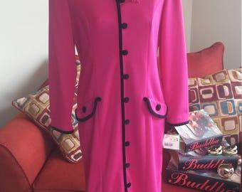 Vintage Pink Leslie Fay Dress **Petite 10**