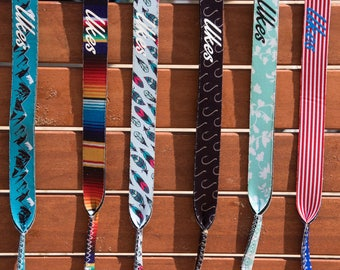 Neoprene Sunglass Straps with a Variety of Unique, Colorful Designs