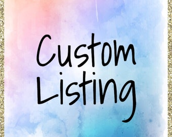 Custom Listing *Only purchase if you are interested in having a custom sticker sheet made* PLEASE READ DESCRIPTION
